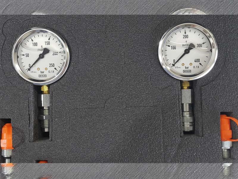 Kit de Medição Hidráulico Manômetro (Valise de Medição) 10 Peças  - Rei da Borracha