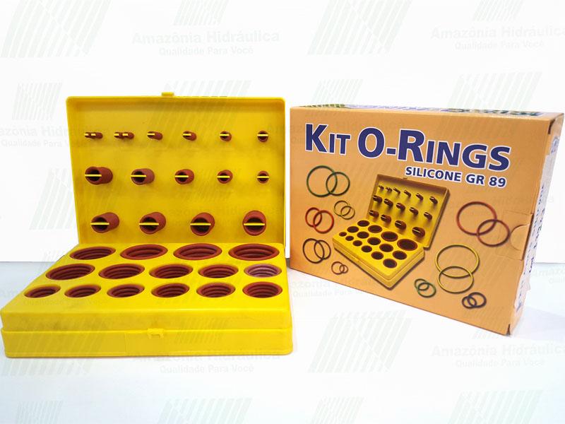 Kit O-ring Silicone Vedação Gr-89 Com 30 Medidas 382 Peças  - Rei da Borracha