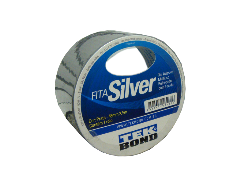 Fita Supertape Silver Tekbond  - Rei da Borracha