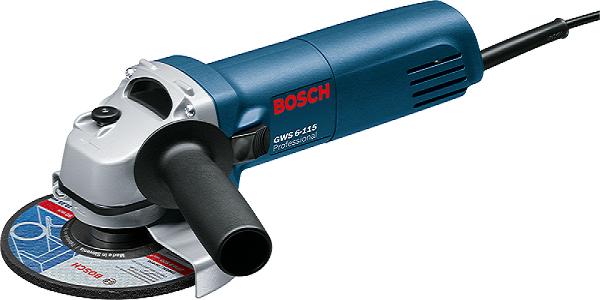 Esmerilhadeira Angular 4.1/2 Gws 6-115 Profissional Bosch  - Rei da Borracha