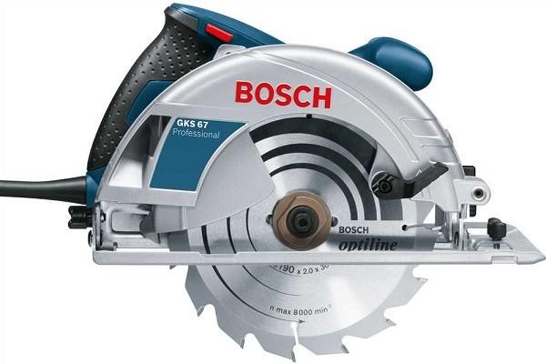 "Serra Circular Gks 67 7.1/4"" 1600w 220v Bosch  - Rei da Borracha"