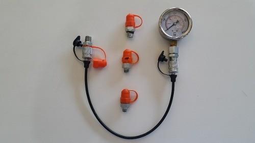 Kit Teste De Pressão Hidráulico Manômetro 400bar / Microtubo  - Rei da Borracha