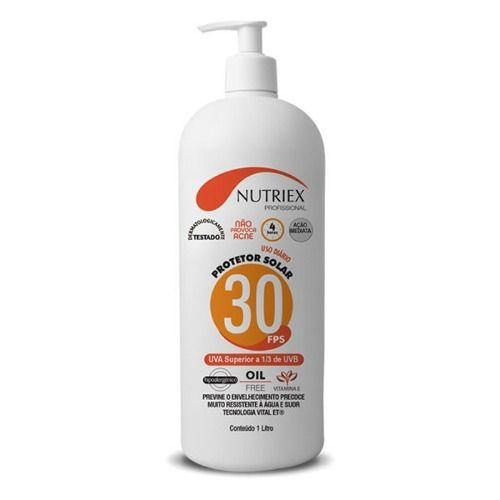 Protetor Solar Nutriex Fps 30 1Litro Uso Profissional Diário  - Rei da Borracha