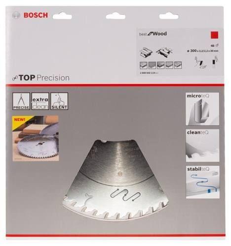 Disco De Serra Circular Bosch Top Precison 300mm  - Rei da Borracha