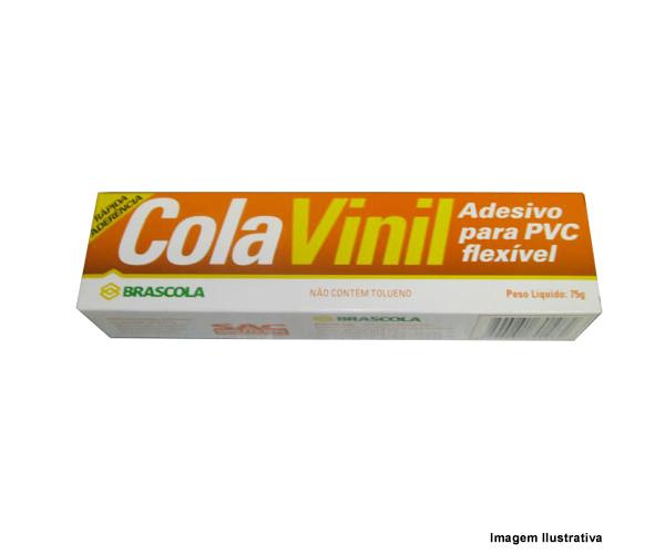 COLA VINIL P/ PVC FLEXÍVEL 75G  - Rei da Borracha