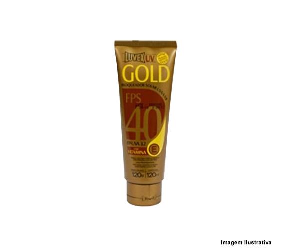 Bloqueador Solar Gold Fps 40 120g  - Rei da Borracha