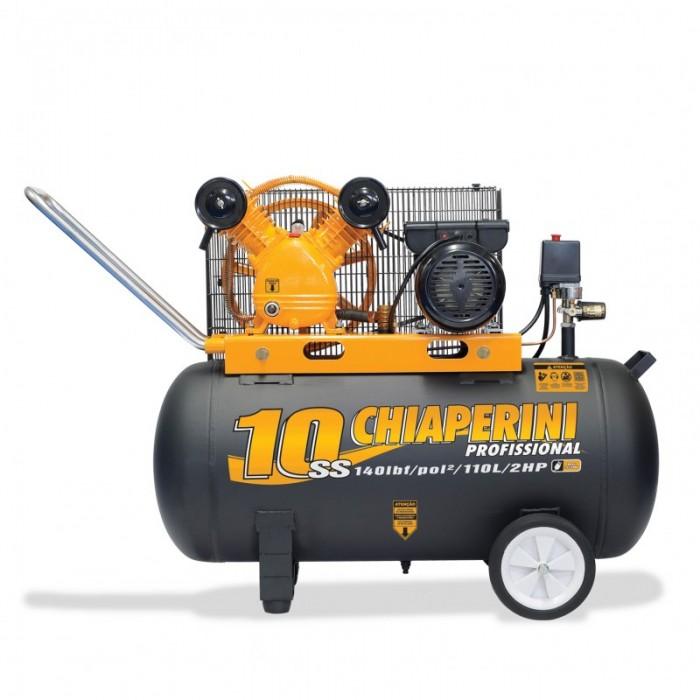 COMPRESSOR AR 10SS 110L C/MT MONOFÁSICO 2HP  - Rei da Borracha