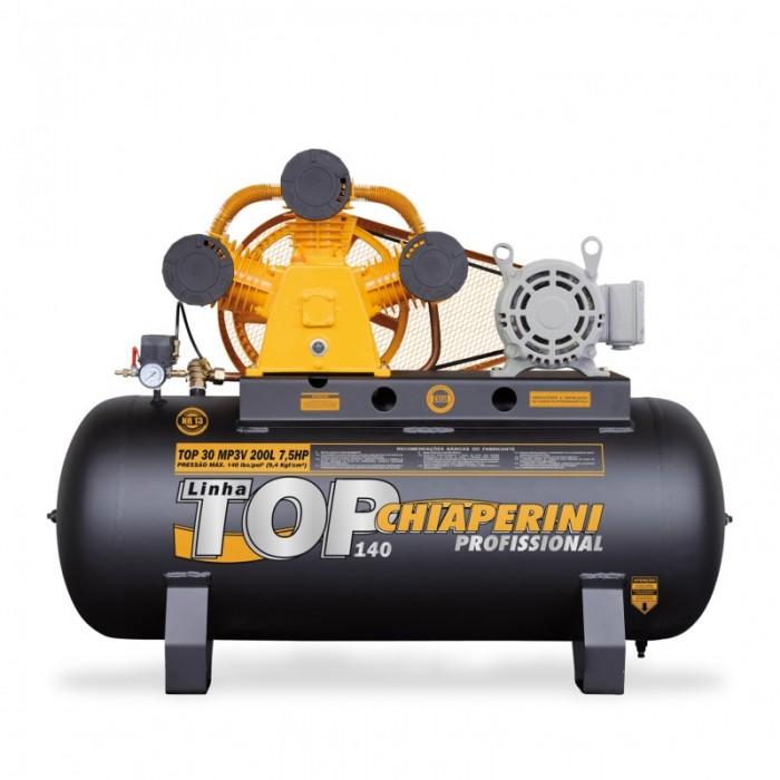COMPRESSOR DE AR TOP 30 MP3V TOP 200LT 7,5HP  - Rei da Borracha