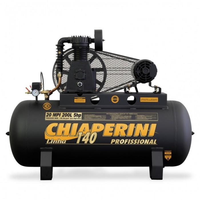 COMPRESSOR DE AR 20 MPI 200L C/M TRIFASICO 5HP ABERTO CHIAPERINI  - Rei da Borracha