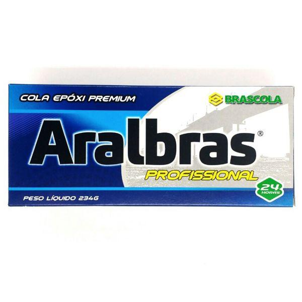Cola Araldite Aralbras 234g Profissional Resina + Endurecedor Brascola  - Rei da Borracha