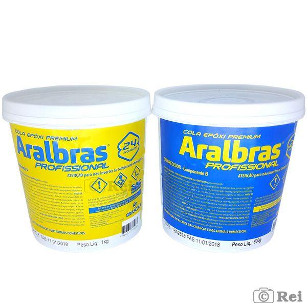 Cola Araldite Aralbras Profissional Resina + Endurecedor Brascola    - Rei da Borracha