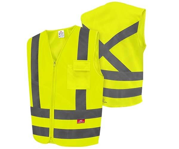 Colete De Alta Visibilidade Amarelo Fluorescente 1 Bolso Steelflex  - Rei da Borracha