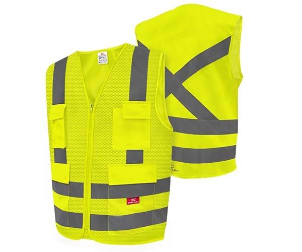 Colete De Alta Visibilidade Amarelo Fluorescente 4 Bolsos Steelflex  - Rei da Borracha