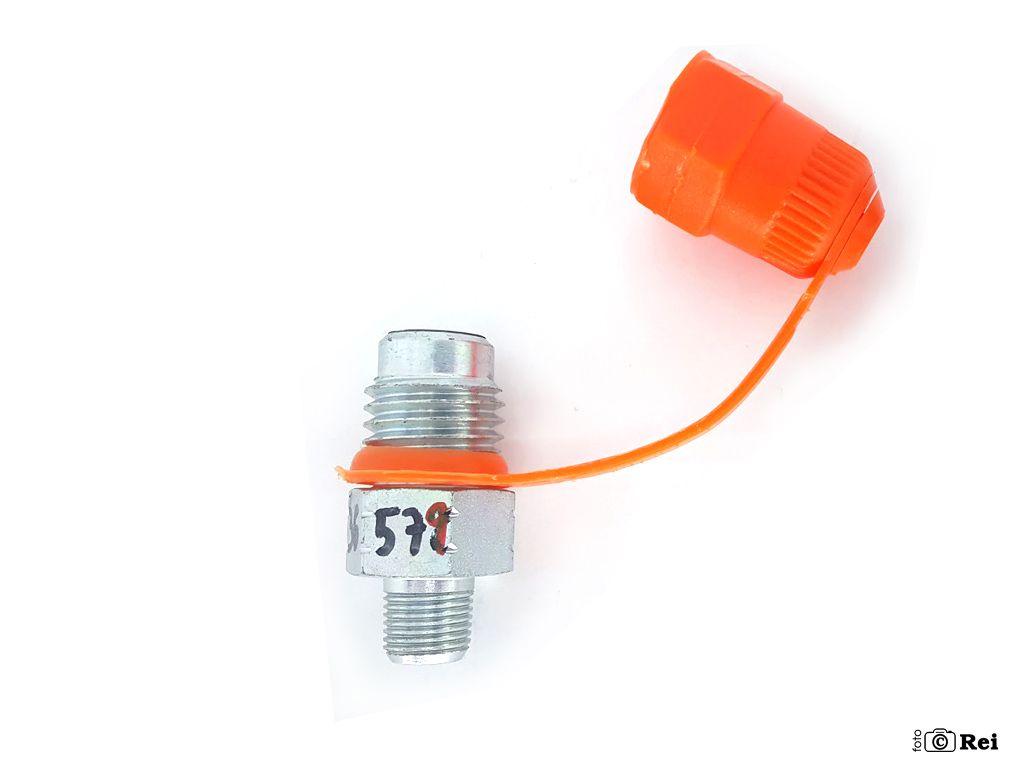 """Conector Minimes ponto de medição 1/4"""" BSP2 Tampa de Plástico  - Rei da Borracha"""