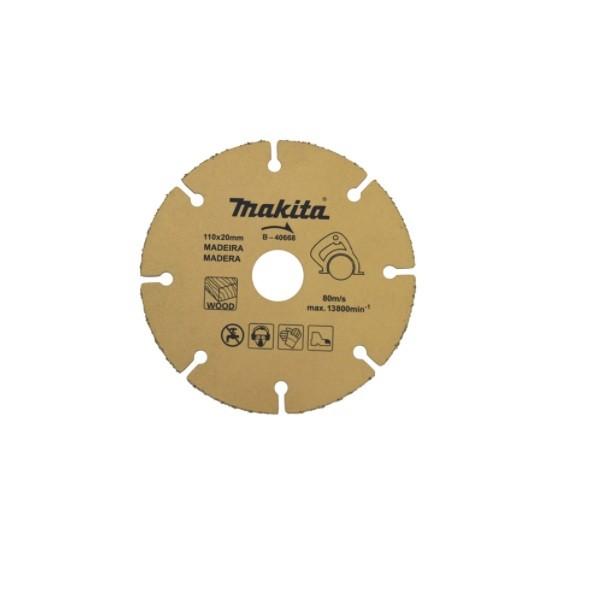 Disco De Corte Para Madeira B-40668 110mm Makita  - Rei da Borracha