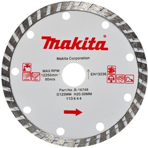 Disco De Corte Para Mármore E Granito B-16748 110mm Makita  - Rei da Borracha