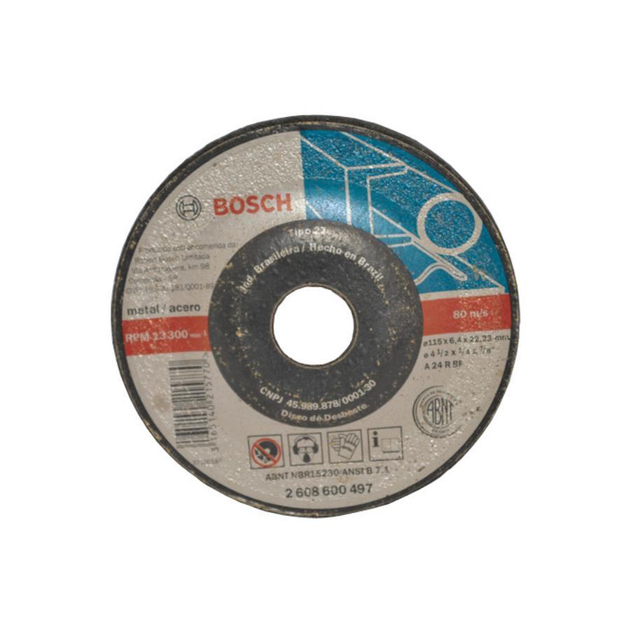 """Disco De Desbaste Para Metais 4.1/2"""" X 1/4"""" X 7/8"""" Bosch  - Rei da Borracha"""