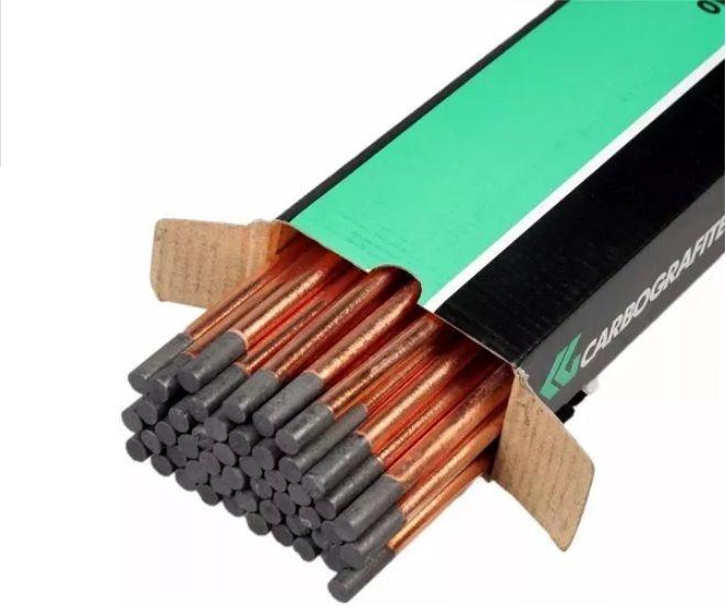 """Eletrodo De Carvão Para Corte Carbografite 1/4x12""""  - Rei da Borracha"""