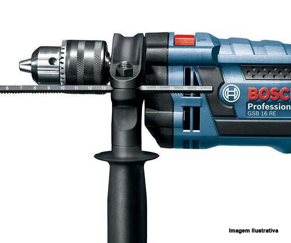 Furadeira De Impacto Reversível Gsb 16 Re 750w Bosch Com Maleta  - Rei da Borracha