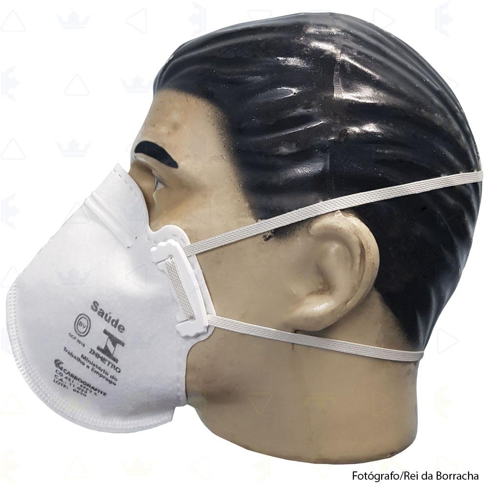 Kit Máscara Respiratória Descartável Classe PFF2 S (N95) Branca Caixa C/100 unidades  - Rei da Borracha