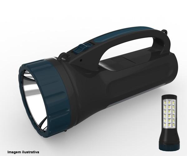 Lanterna De Led Com Função Luminária Recarregável Bivolt Yg-5715 Nsbao  - Rei da Borracha