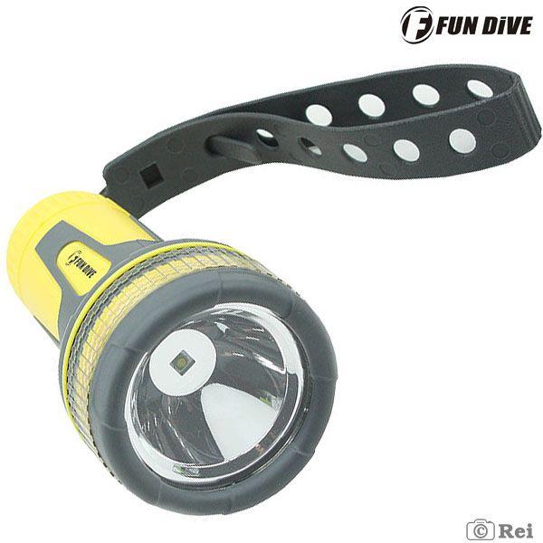 Lanterna para Mergulho Fundive Thor LED 150 Lumens - Até 50 metros de profundidade.  - Rei da Borracha