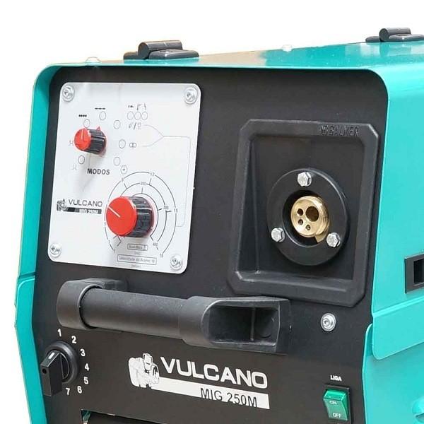 Máquina de Solda Balmer MIG/MAG 225A Monofásica 220V - Vulcano MIG 250 M  - Rei da Borracha