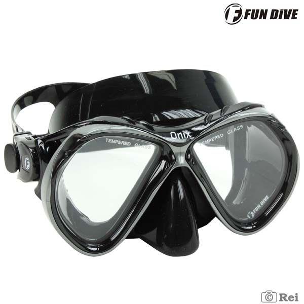 Máscara de Mergulho Siliconada Onix Fun Dive duas lentes  - Rei da Borracha