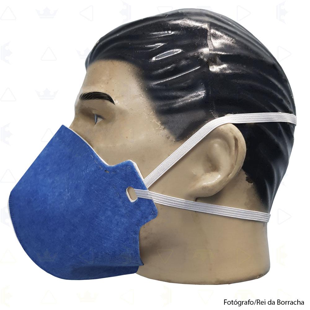 Máscara Respiratória Descartável Classe PFF2 S (N95) Azul Supersafety  - Rei da Borracha