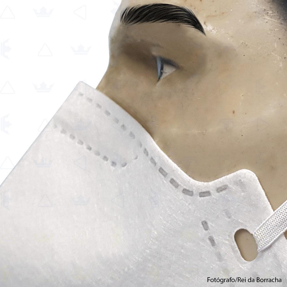 Máscara Respiratória Descartável Classe PFF2 S (N95) Branca Supersafety  - Rei da Borracha