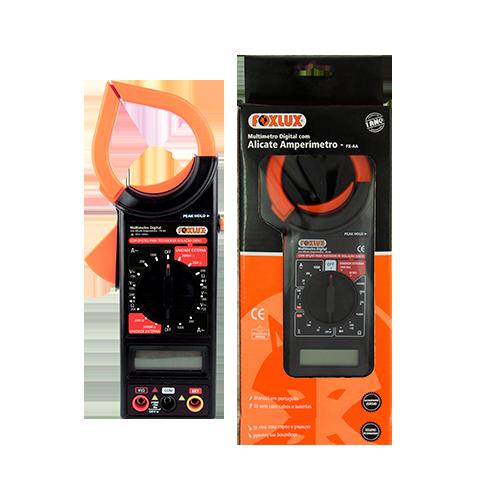 Multímetro Digital Com Alicate Amperímetro FX - AA  - Rei da Borracha