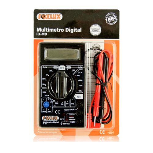 Multímetro Digital Foxlux Fx - Md   - Rei da Borracha