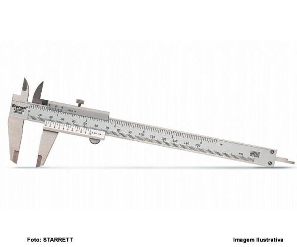 "Paquímetro Universal Starrett 200mm - 8""  - Rei da Borracha"