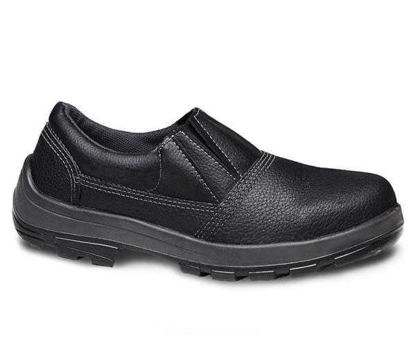 Sapato De Segurança Usafe Usl Masculino Preto Sem Cadarço  - Rei da Borracha