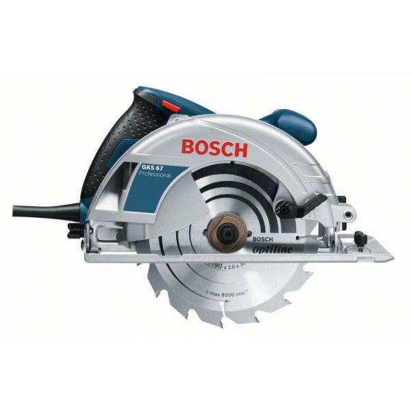 Serra Circular Bosch GKS67 110V 1600W   - Rei da Borracha