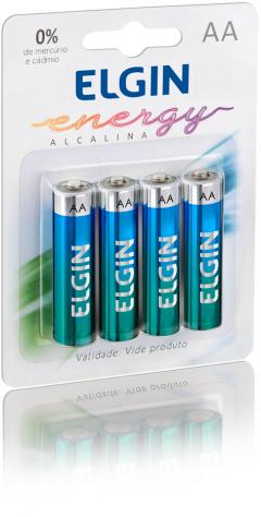 Pilha Alcalina Elgin AA c/4