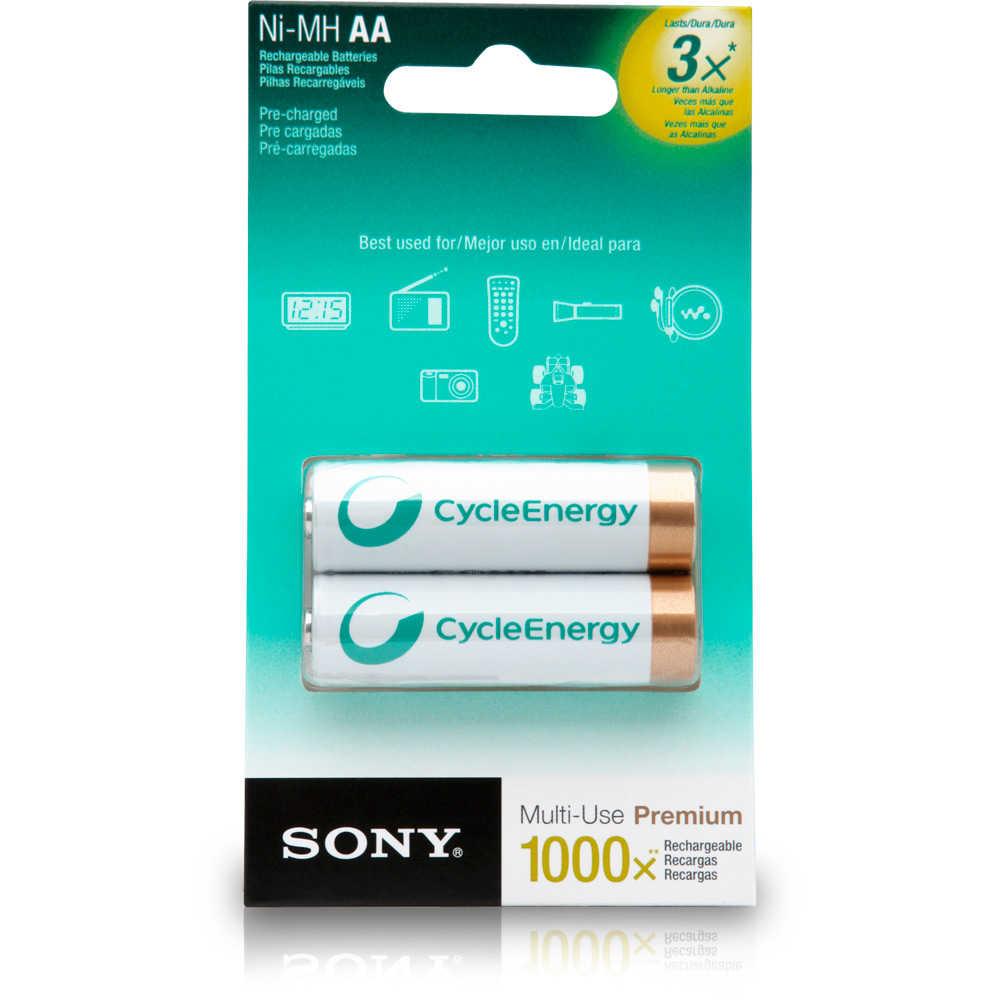 Pilha Recarregável Sony AA Ni-MH 2100mAh c/2