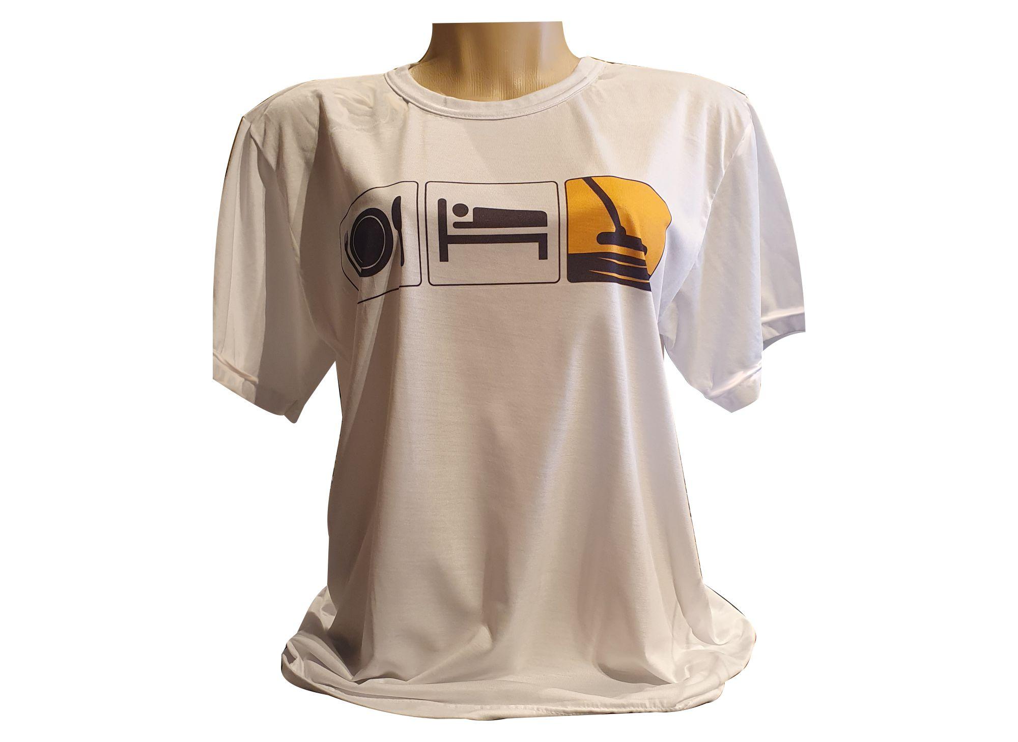 Camiseta Comer Dormir Caçar Unissex