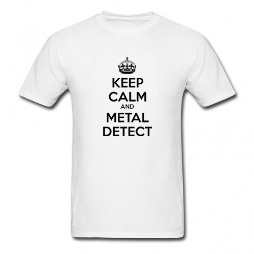 Camiseta Keep Calm and Metal Detect  - Fortuna Detectores de Metais