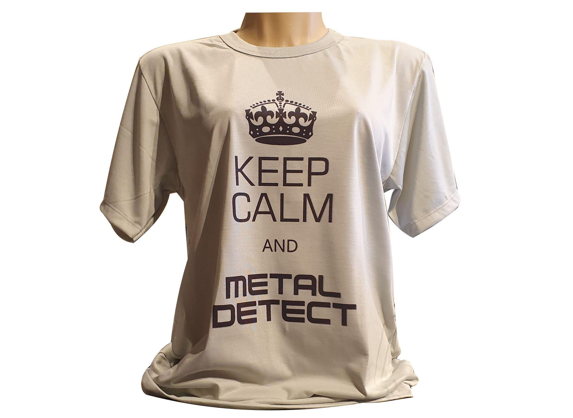 Camiseta Keep Calm and Metal Detect Unissex