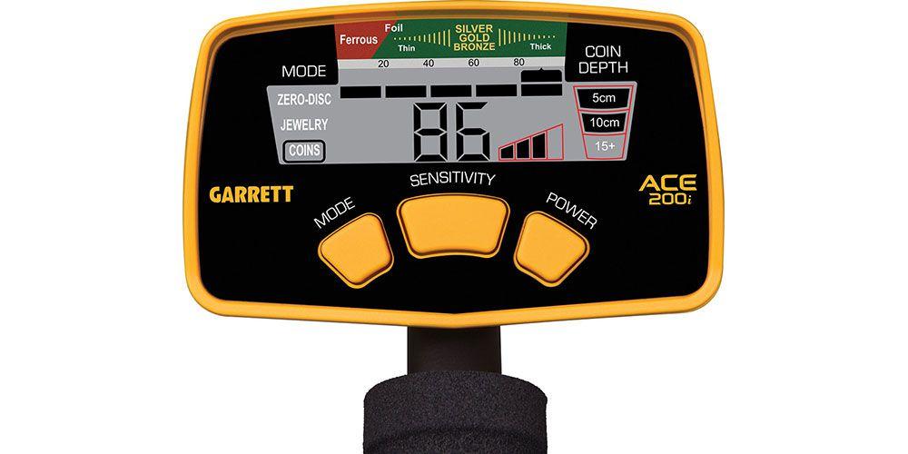 Detector de Metais Garrett ACE 200i  - Fortuna Detectores de Metais
