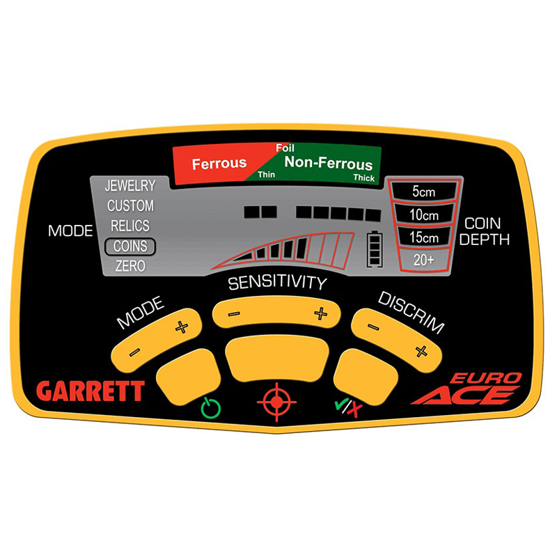Detector de Metais Garrett EuroACE  - Fortuna Detectores de Metais