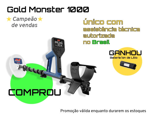 Detector de Metais Minelab Gold Monster 1000