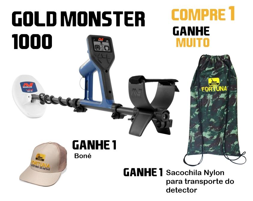Detector de Metais Minelab Gold Monster 1000  - Fortuna Detectores de Metais