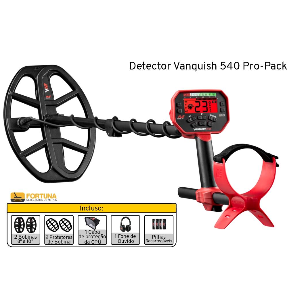Detector de Metais Minelab Vanquish 540 Pro-Pack
