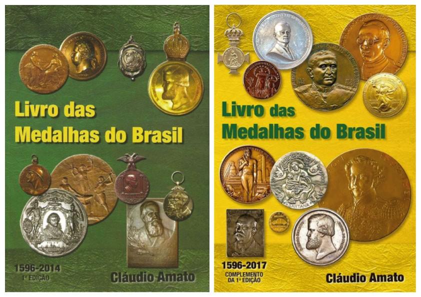 Kit Livro Das Medalhas Brasil 1º Ed + Livro Complemento