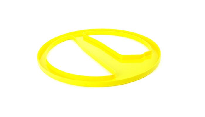 Protetor de Bobina Minelab Amarelo de 10 Polegadas para Excalibur  - Fortuna Detectores de Metais