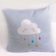 Almofada decorativa nuvem com gota