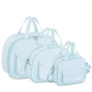 Kit bolsas 3 peças - Colmeia azul