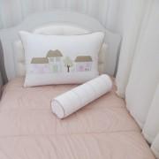 Kit cama de solteiro Casinhas - 3 peças